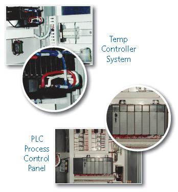 Temp Controller System & PLC Process Control Panel