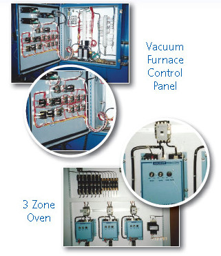 Vacuum Furnace Control Panel and 3-Zone Oven