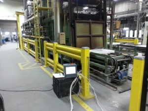 8 Point Uniformity Survey on a Nutmeg Conveyor Pusher Furnace